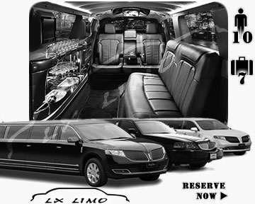 Stretch Limo airport shuttle in Washington
