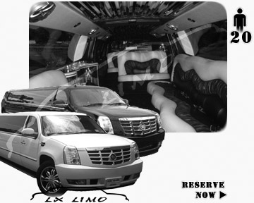 Cadillac Escalade 20 passenger SUV Limousine for rental in Washington, DC