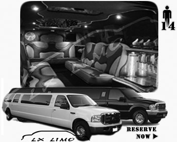 Lincoln Excursion SUV Limo for hire