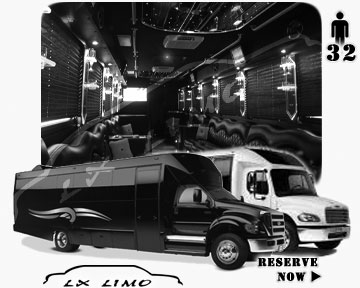 Party Limo Bus rental in Washington | Washington party bus 32 passengers