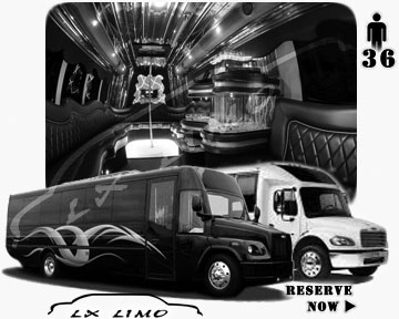 Party Limo Bus rental in Washington | Washington LIMOBUS 36 passengers